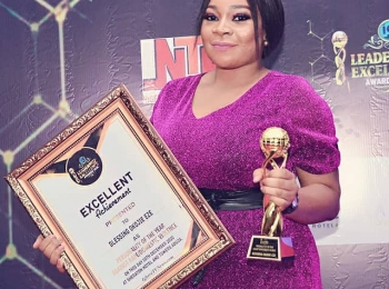 Mrs Eze Blessing<br>Executive Director WIVF<br>Winner of Igbere tv award of personality of the year against rape and domestic violence 2020