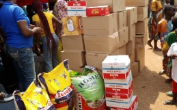 Women of values foundation distributes food items to Egan community at Yuletide